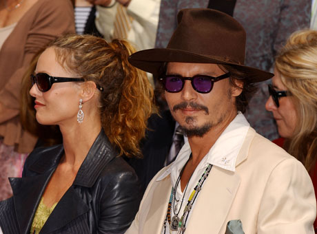 Ванесса Паради (Vanessa Paradis) и Джонни Депп (Johnny Depp) / splashnews.com